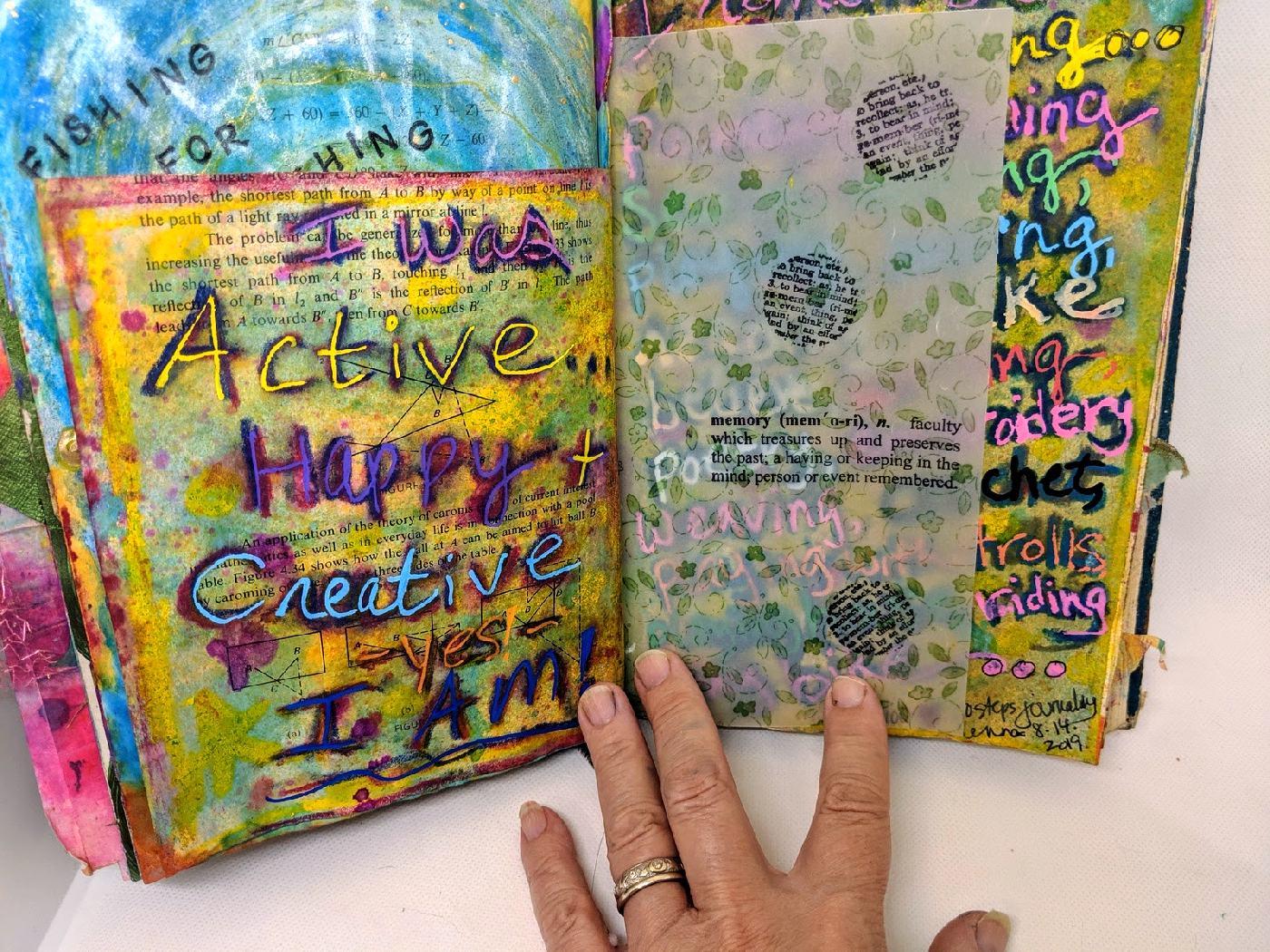 215: Day 6/100 steps art journal