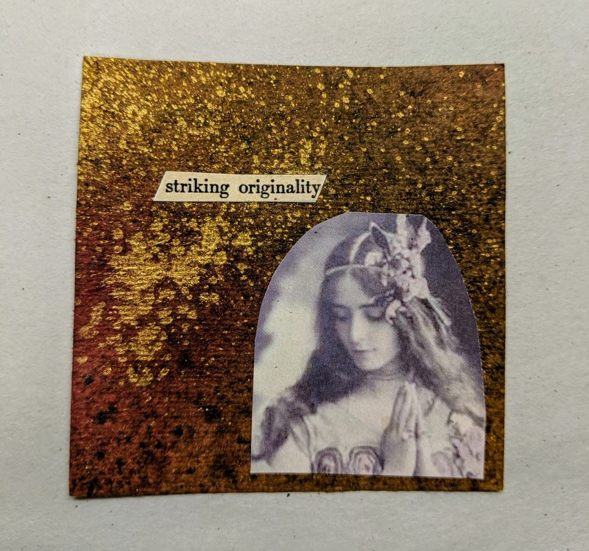 222: 3x3 card with dyes & collage