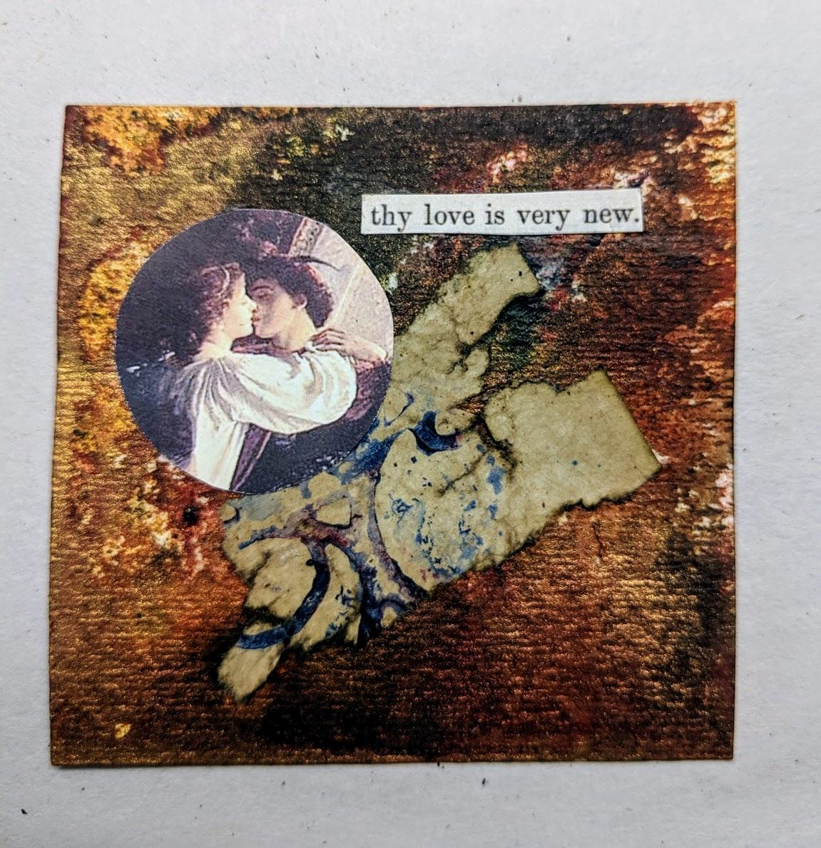 225: 3x3 card with dyes & collage