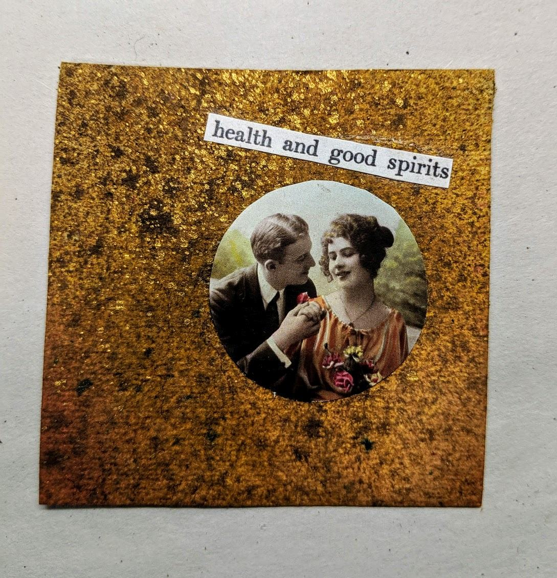 226: 3x3 card with dyes & collage