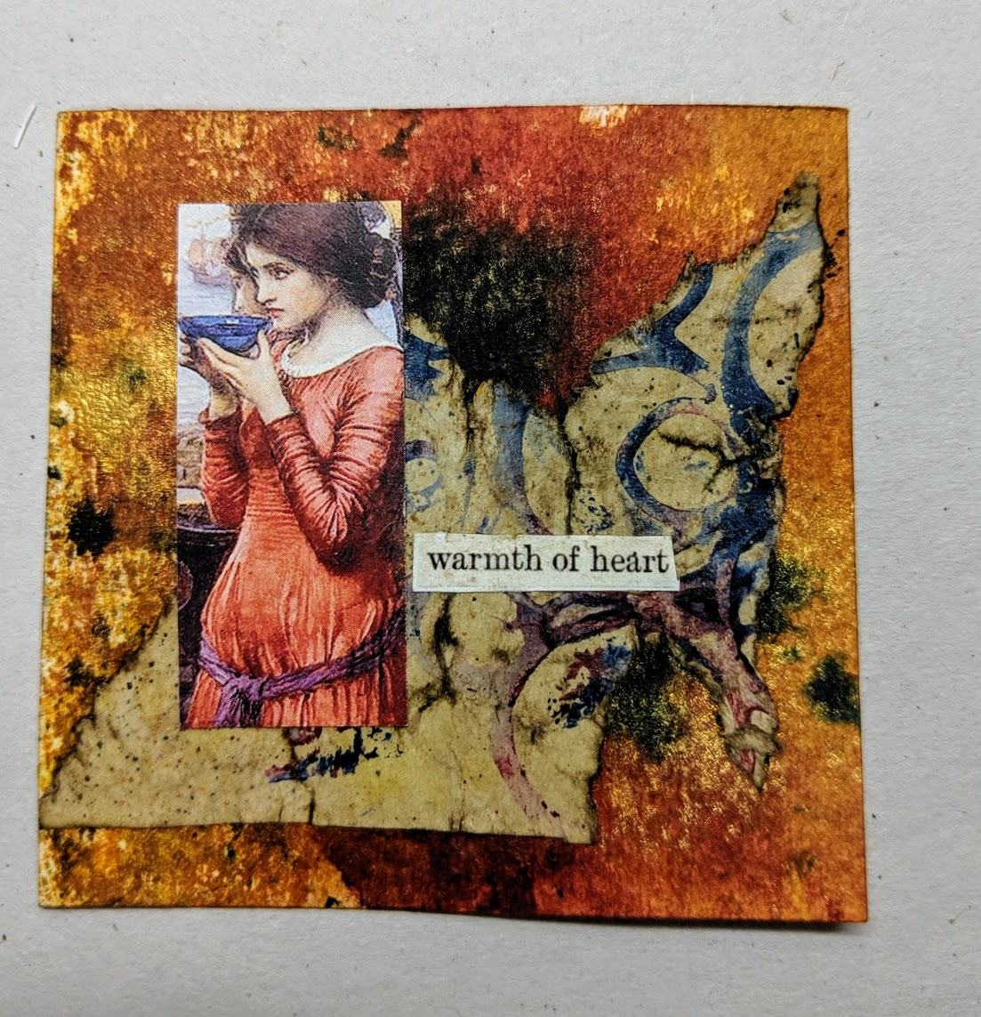 227: 3x3 card with dyes & collage
