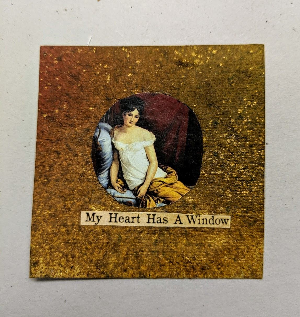 228: 3x3 card with dyes & collage