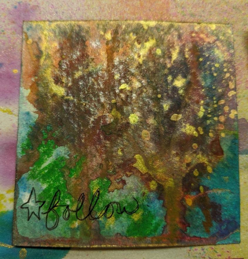 263: 3x3 watercolor card