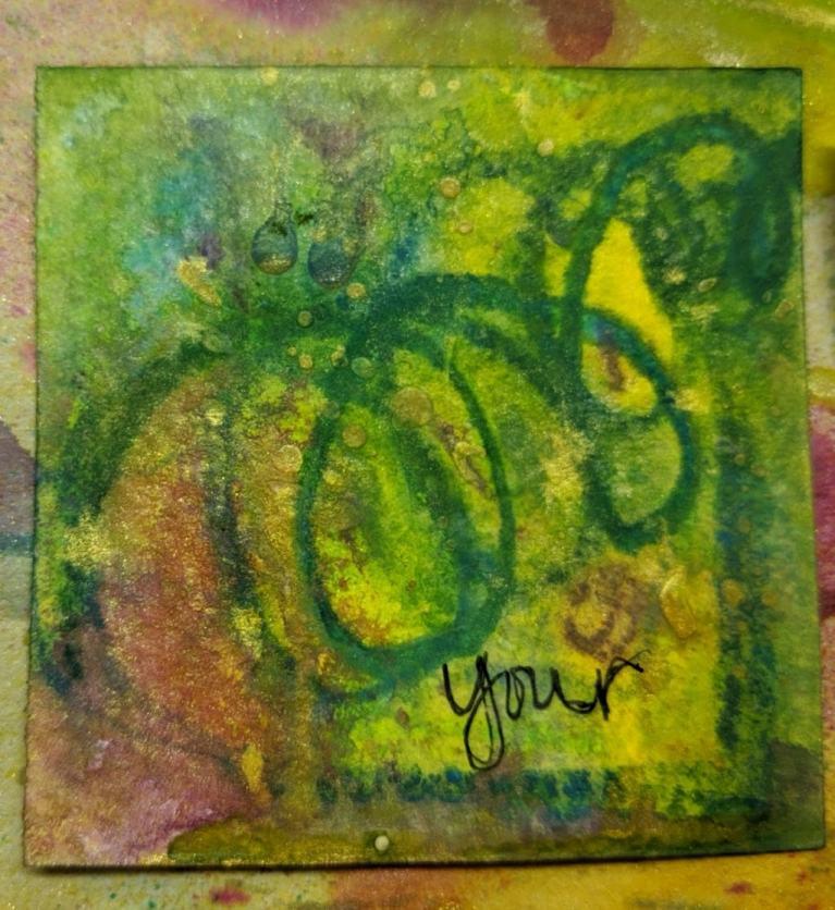264: 3x3 watercolor card