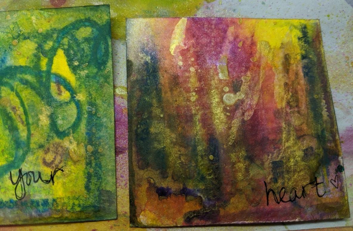 265: 3x3 watercolor card