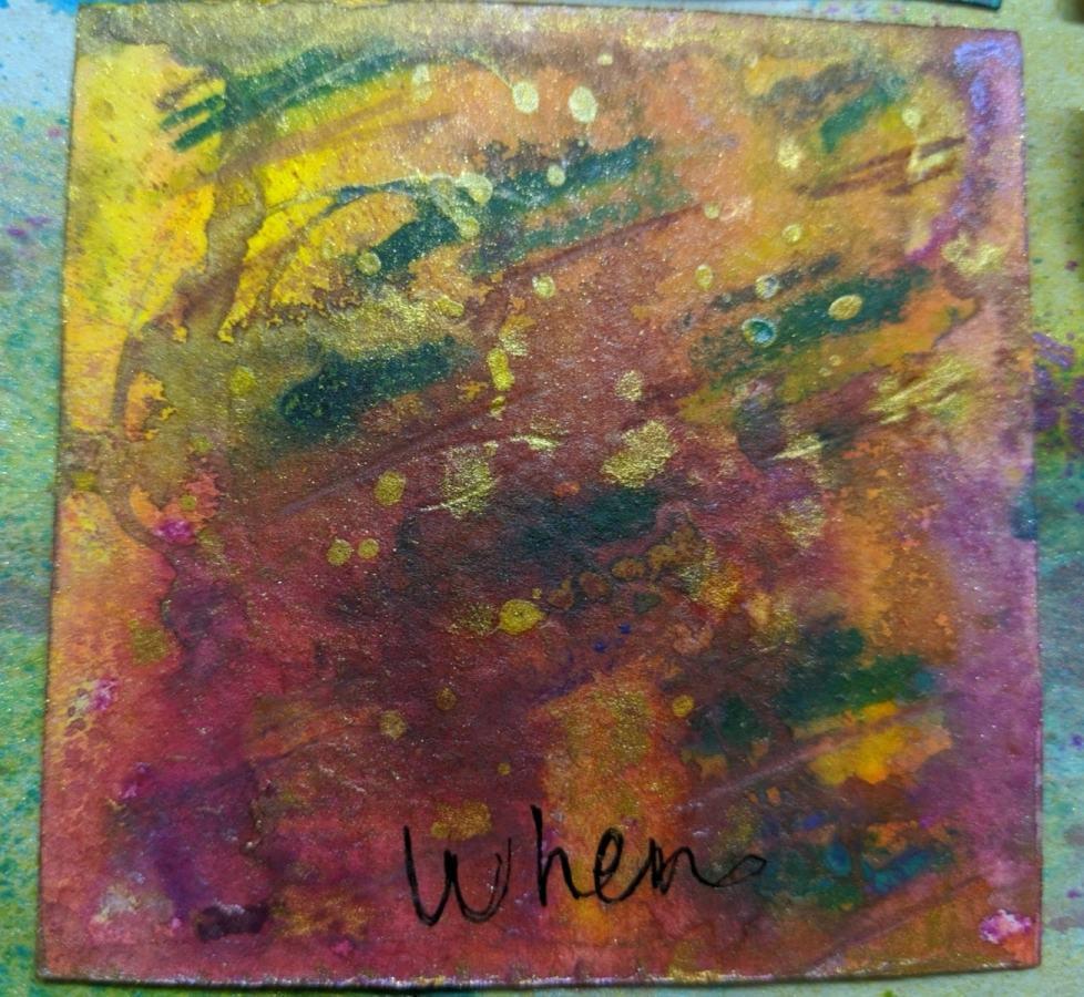 266: 3x3 watercolor card