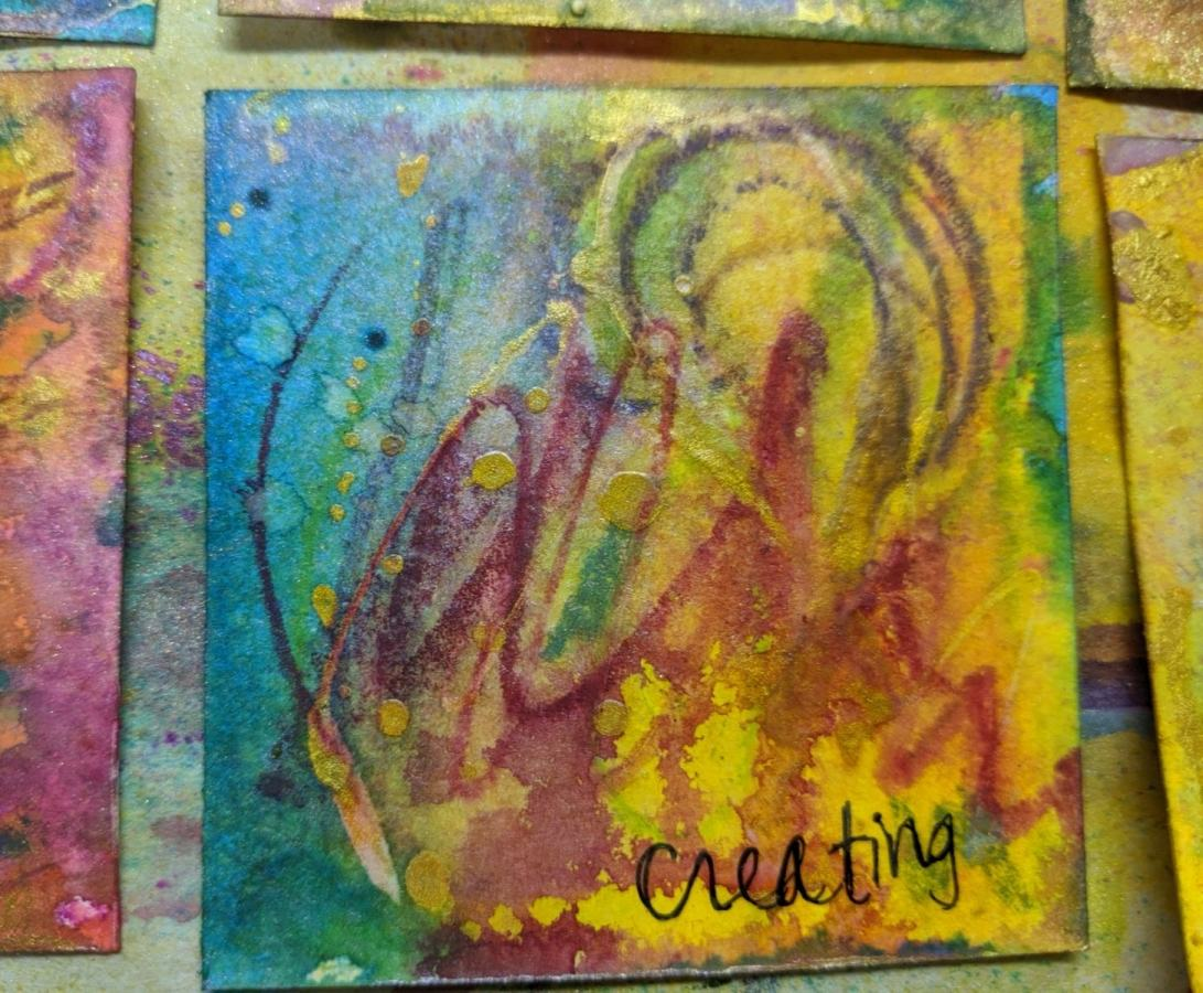 267: 3x3 watercolor card