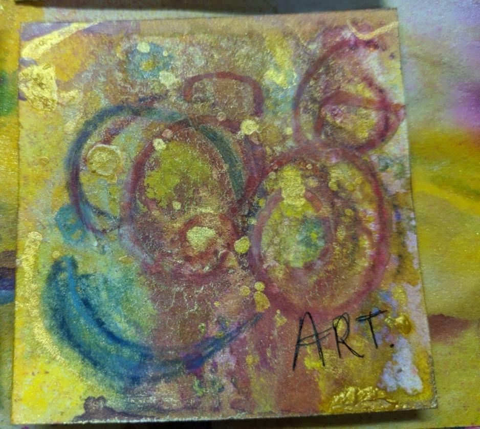 268: 3x3 watercolor card