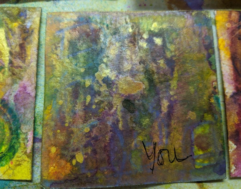 271: 3x3 watercolor card