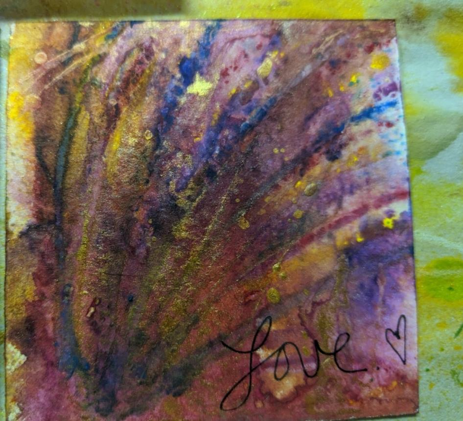 272: 3x3 watercolor card
