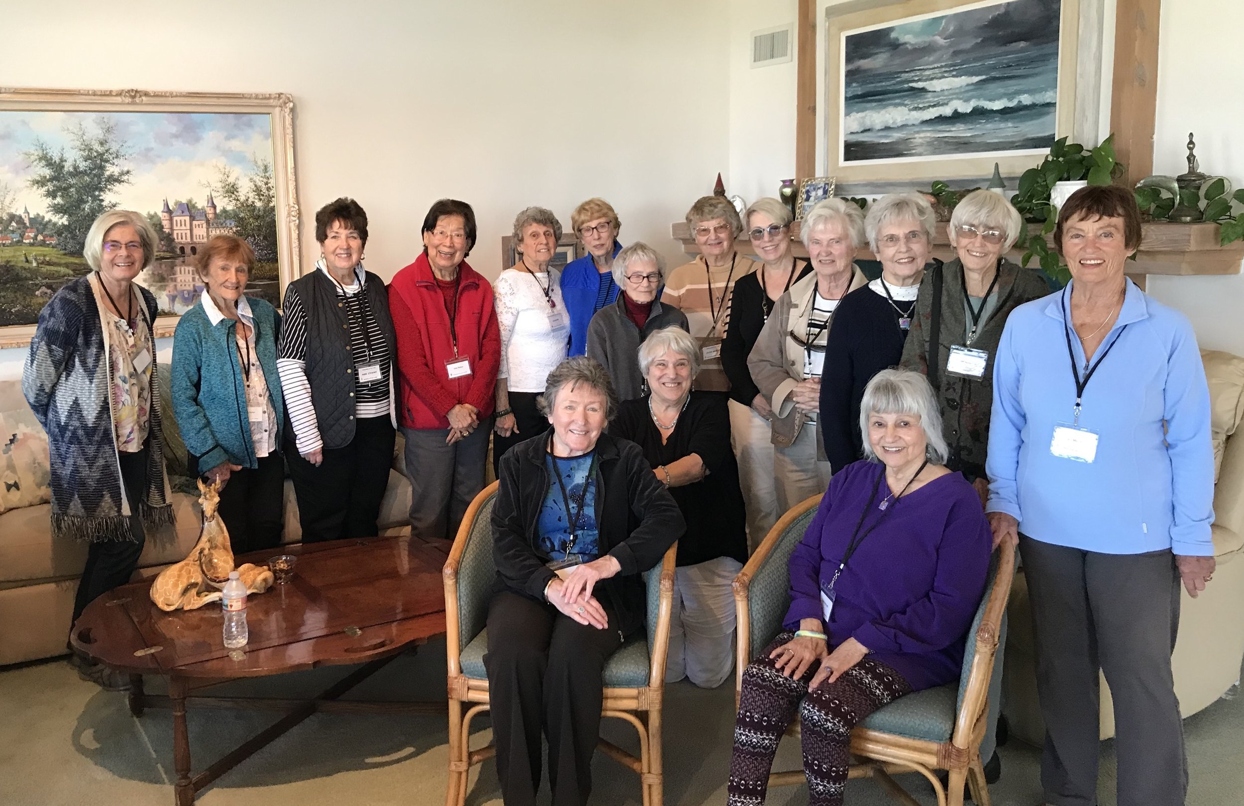 Companions of Our Lady Widows Fellowship enjoying a day of reflection.