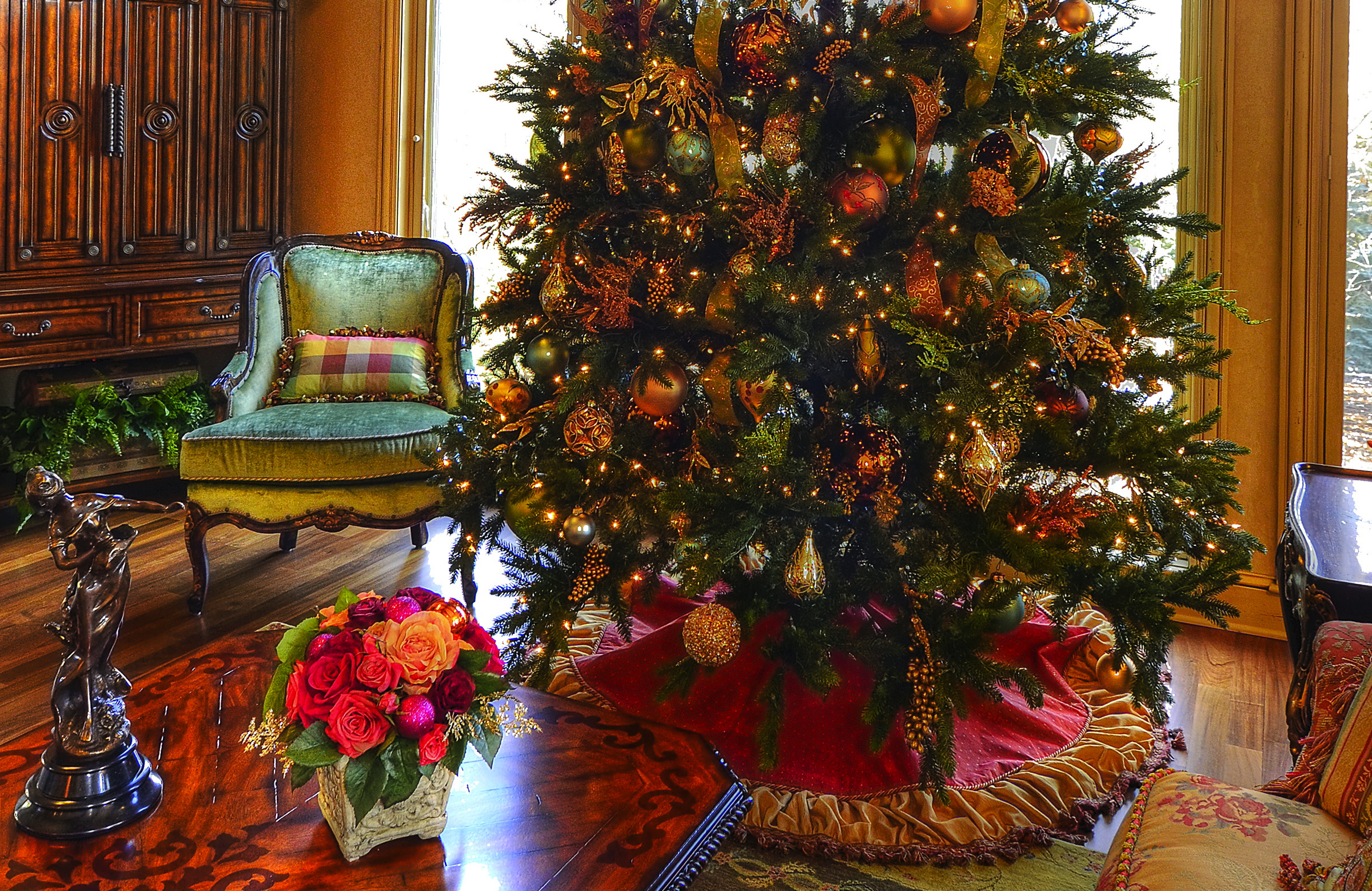 12 ft tree with custom made tree skirt.jpg