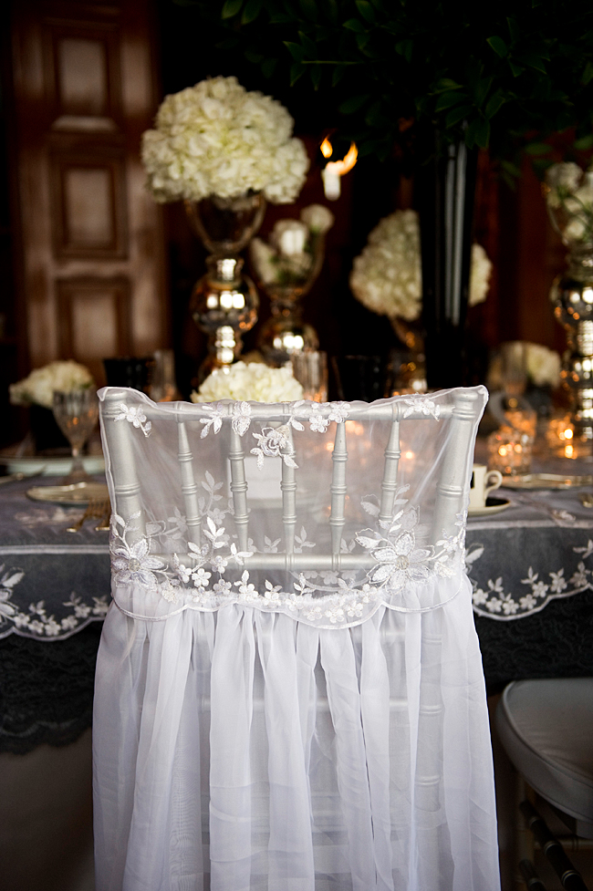 Grace Kelly bridal chair cover