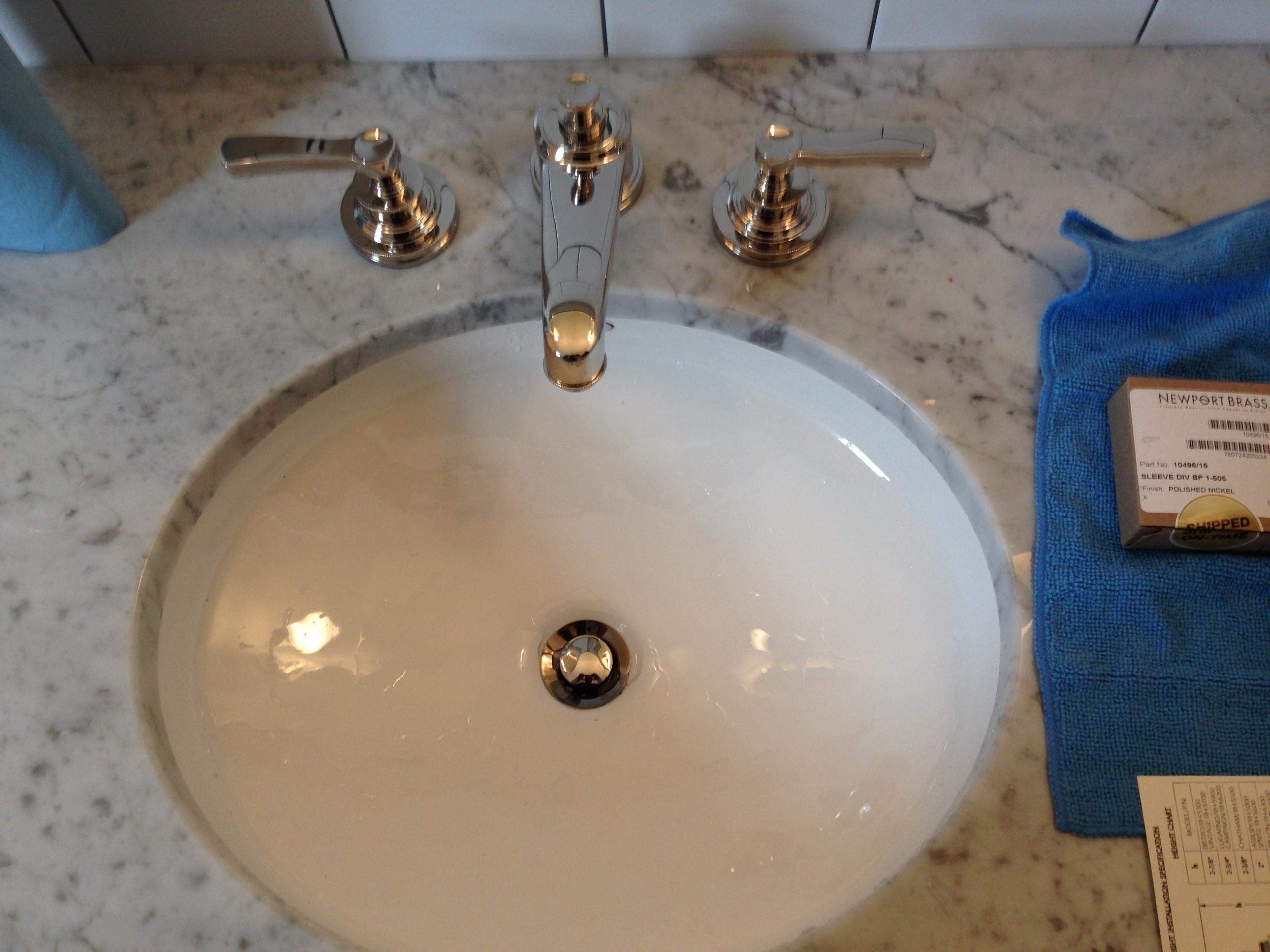 Newport Brass Wide Spread Bathroom faucet Install