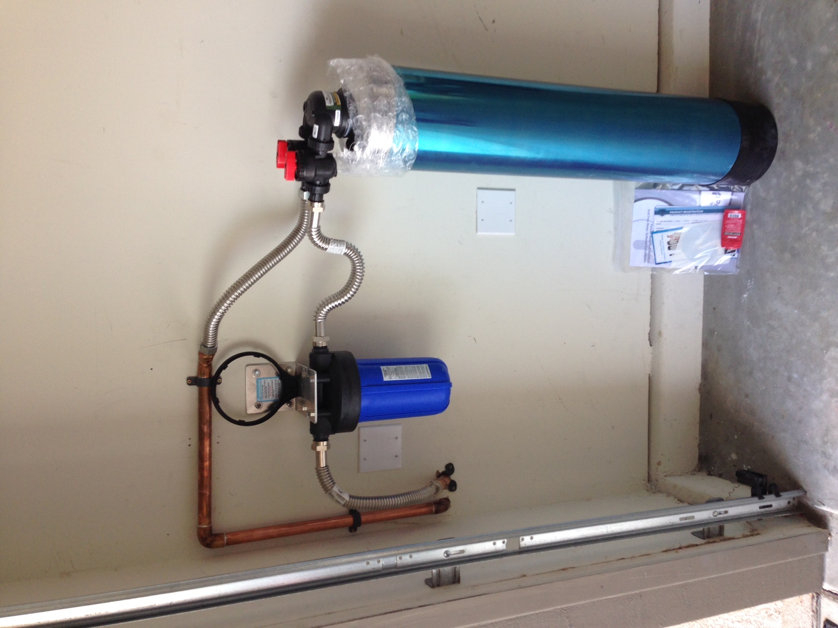 Built bypass loop and installed customers Pelican Water Softener