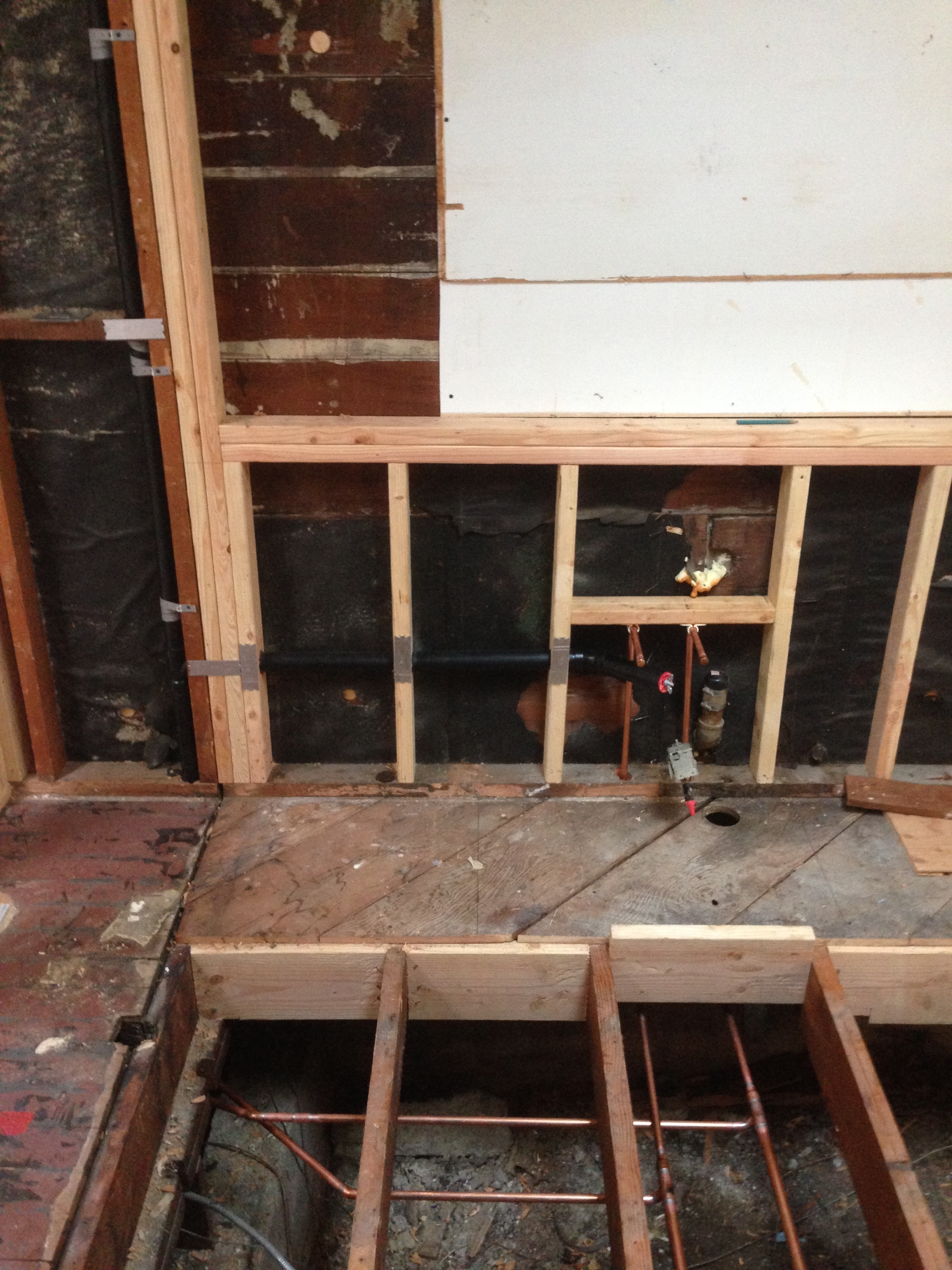 All new copper supply lines and drains for kitchen sink