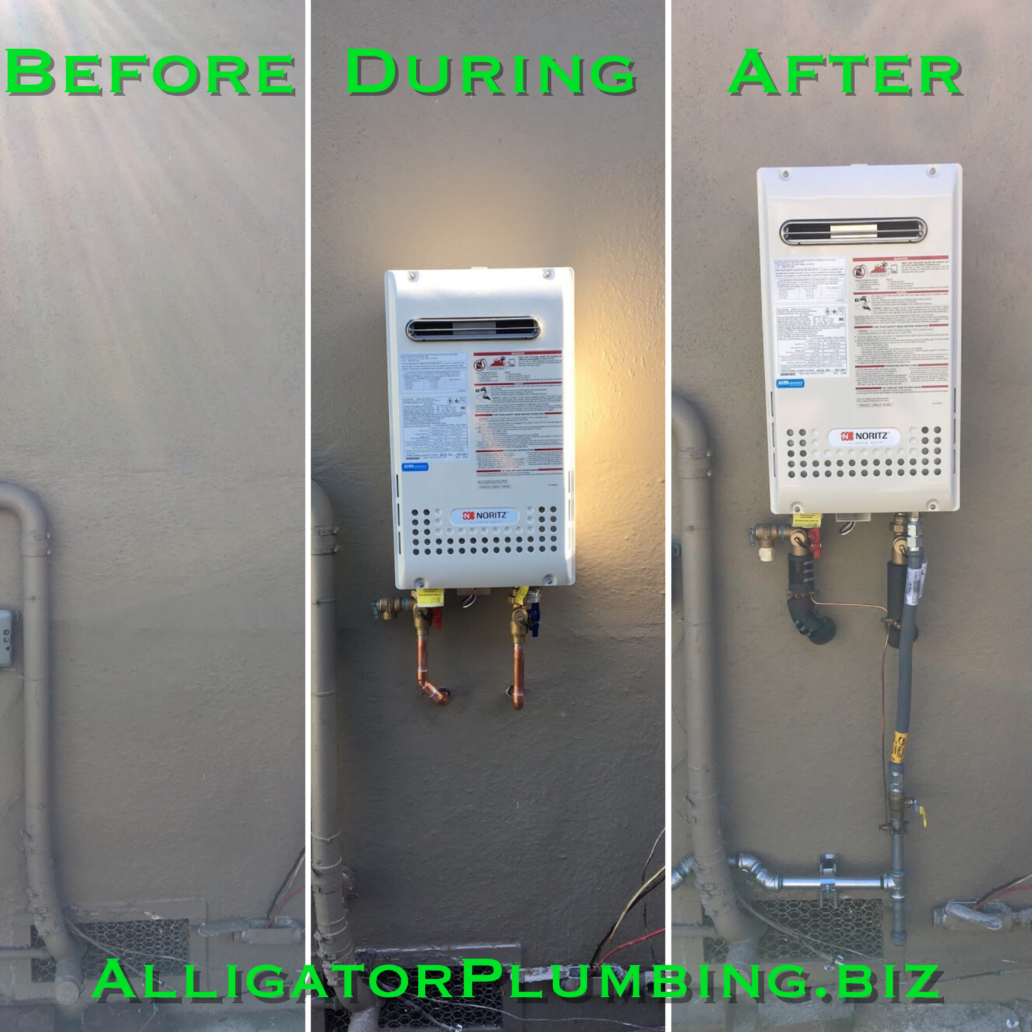 Castro Valley Tankless Water Heater Installation Before