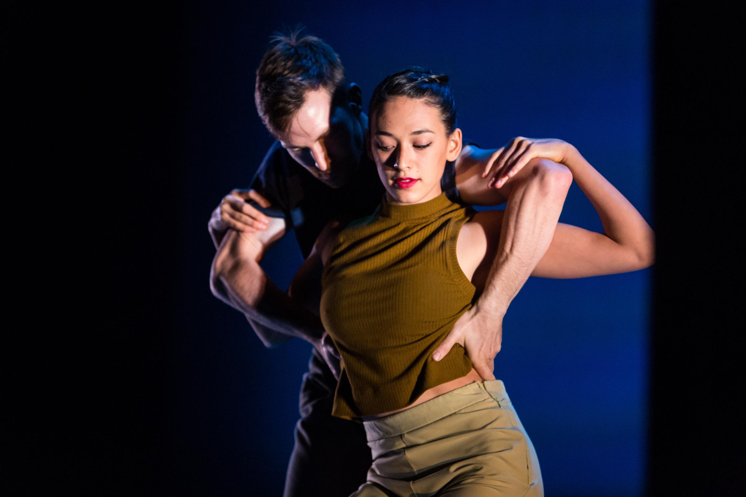 Adrienne Lipson and Garrett Anderson performing an excerpt of Penny Saunders'  Joe & Ida  at DanceFAR 2015. photo: Alex Reneff-Olson