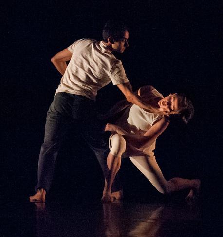 Penny Saunders and Pablo Piantino in Saunders'  Berceuse  at DanceFAR 2014. photo: Natalia Perez