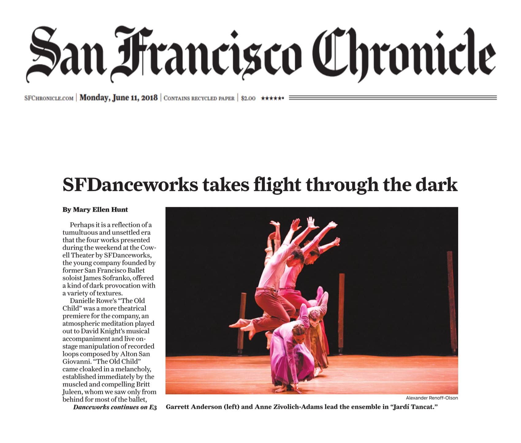 Season Three review in SF Chronicle, click to view.