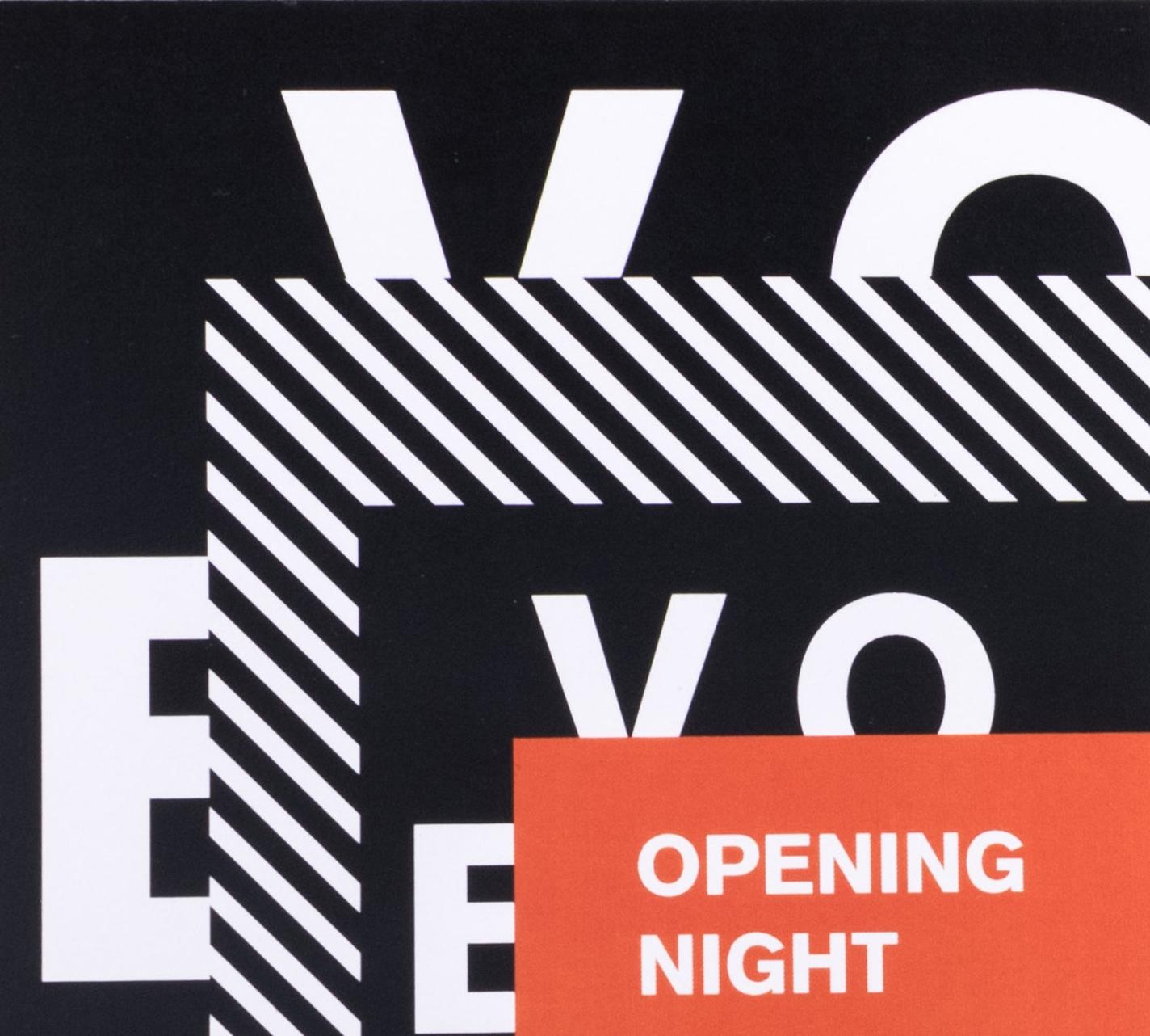 Back detailing of Opening Night Invitation