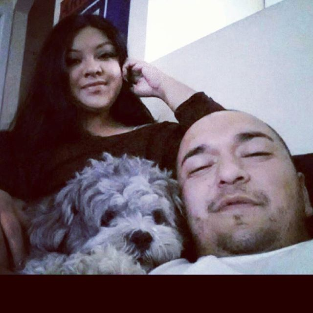 #sunday #chillin my lil #family  Yes, my eyes are open
