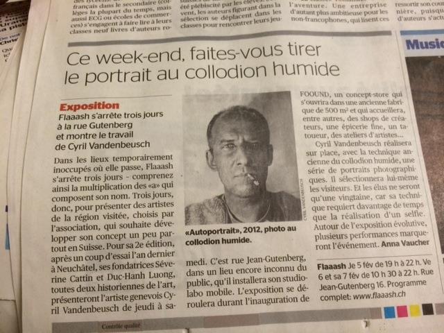 La Tribune de Genève // 3 février 2015