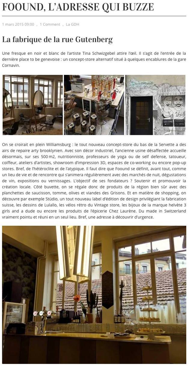 La Gazette de l'Helvète // 01 mars 2015
