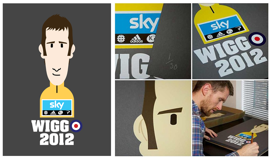 The LTD edition WIGGO TDF winning screen print.