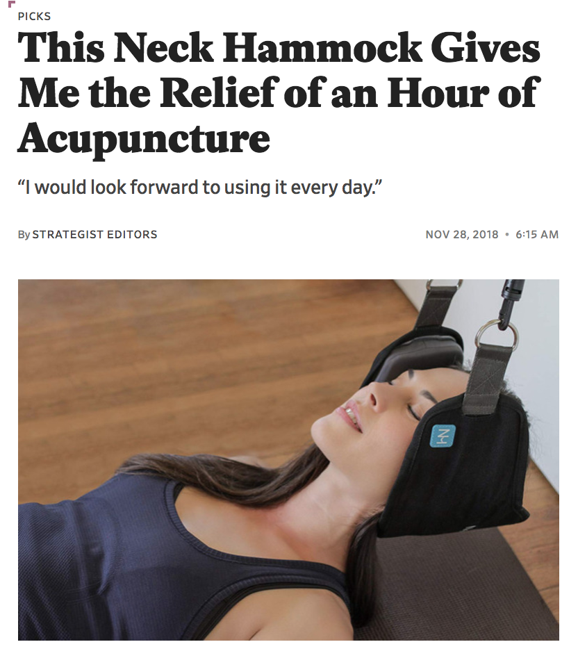 SLATE - This Neck Hammock Gives Me the Relief of an Hour of Acupuncture