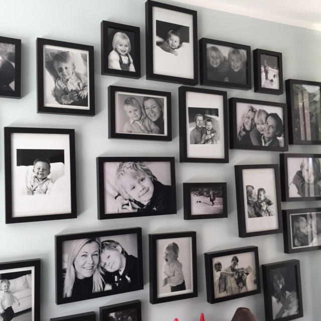 """Since we were living in Italyuntil recently, I made Oliver a """"Wall of Fame ( Family )"""" with pictures of all our friends and family who he could not besurrounded with daily. We used to speak about everybody often and I know it ment a lot to him to """"see"""" them everyday."""