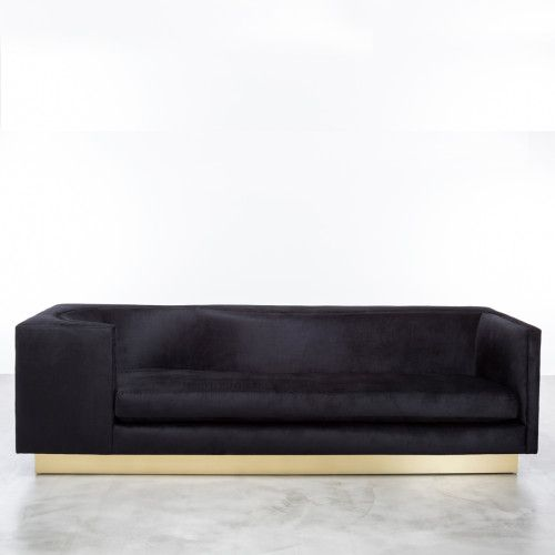 Laurent couch in black and brass from   1stdibs.com