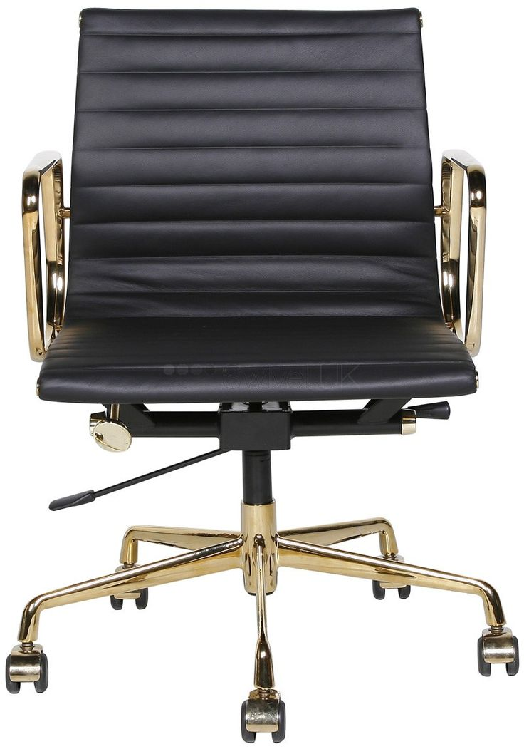 Special edition   EAMES   chair in black and brass. I want !