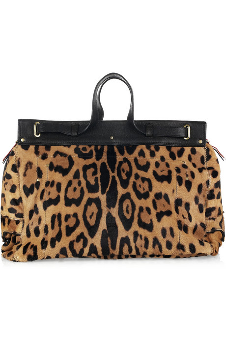 Jerome Dreyfuss Carlos leopard-print calf hair bag