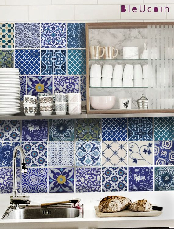 The more traditional way to use ceramic tiles with colored decorated classic tiles like these or hand made tiles from   CASA CHRISTINA  .