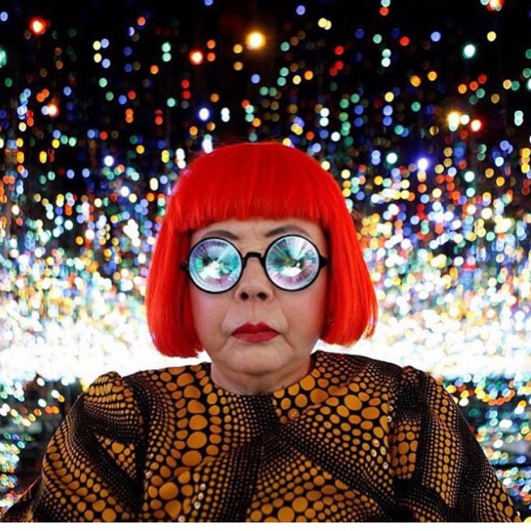 La Signora herself YAYOI KUSAMA, slightly eccentric you might say, but in a great way.