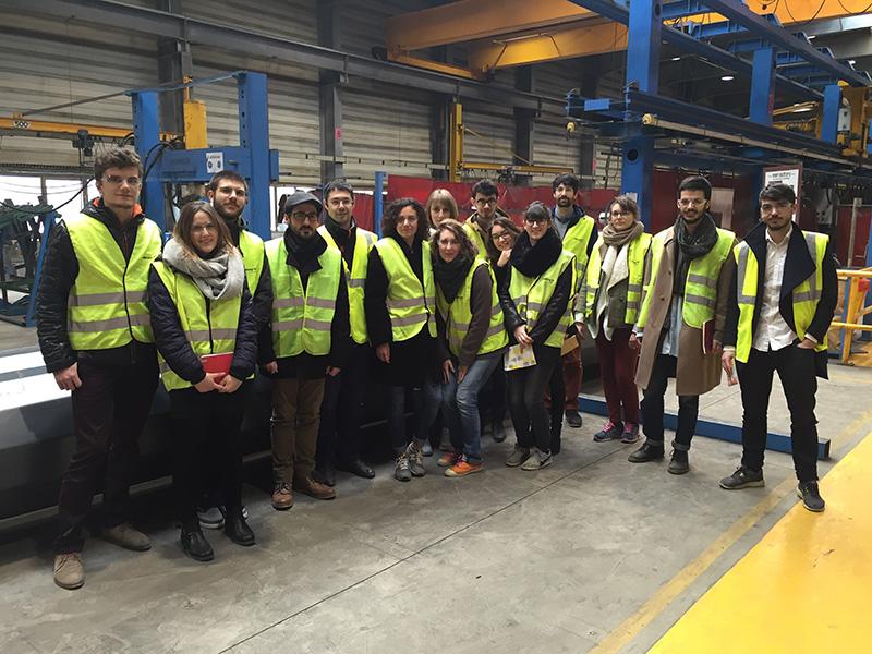 Visite de l'entreprise et de son usine de production lors du lancement du projet.