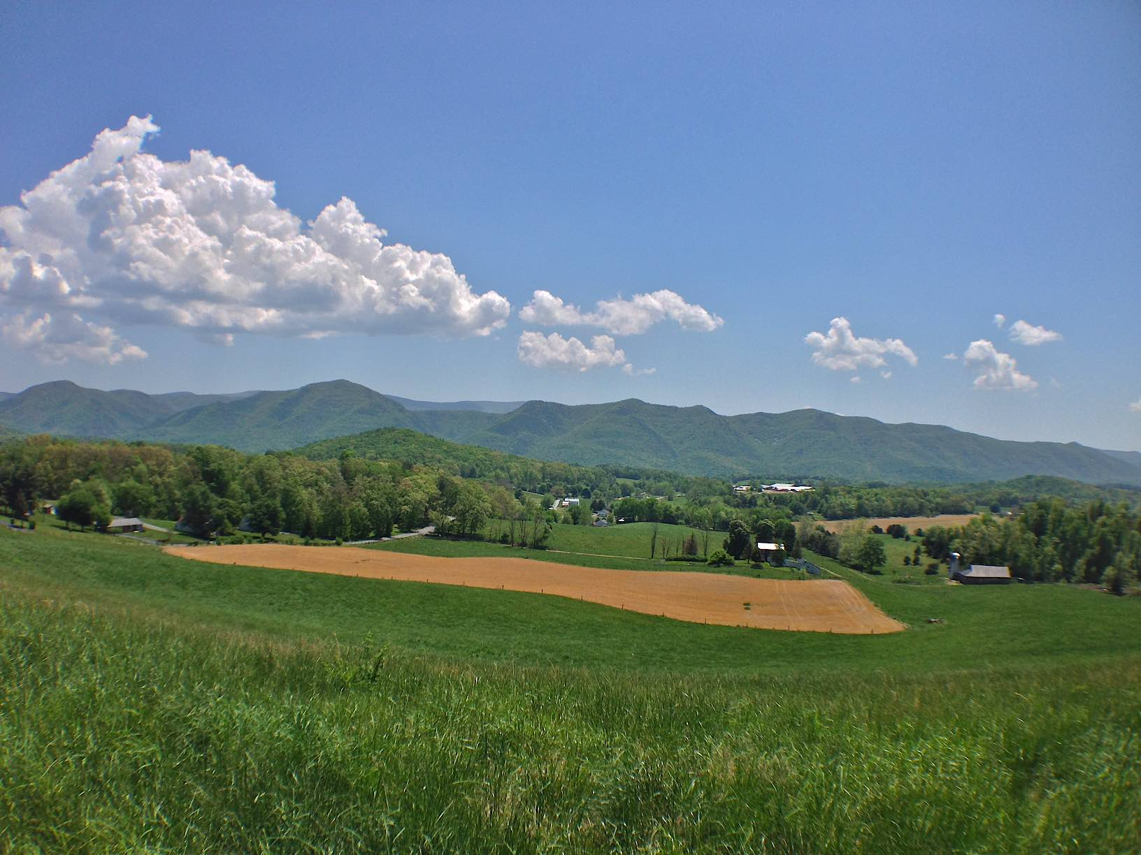 Eastern view from Fairfield of Blue Ridge Mts.