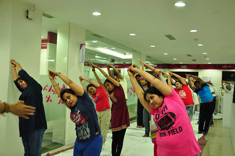 Mystic Yoga at AXIS Bank