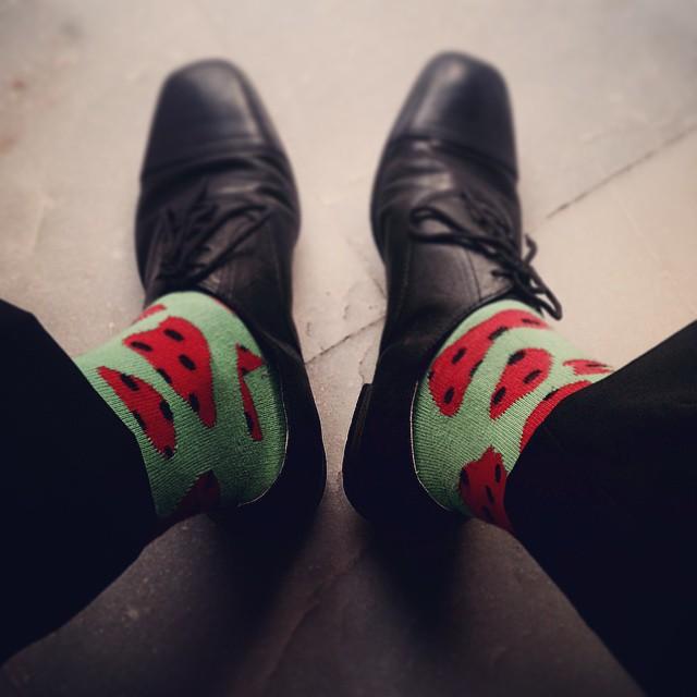 Watermelon socks 2.0