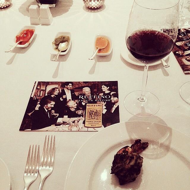 Ruffino dinner at Sahib Room & Kipling Bar. #Chianti meets galouti! #LaVitaRuffino