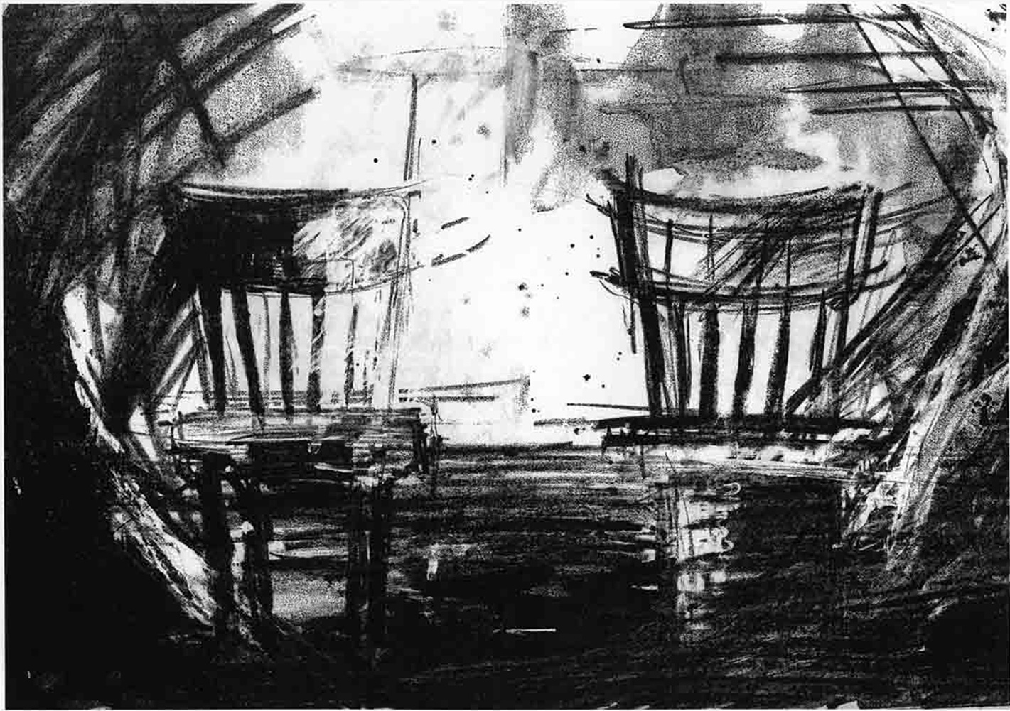 Chairs. Lithograph. From my archives.