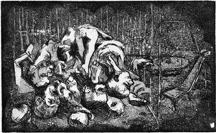 War. Etching. From my archives.