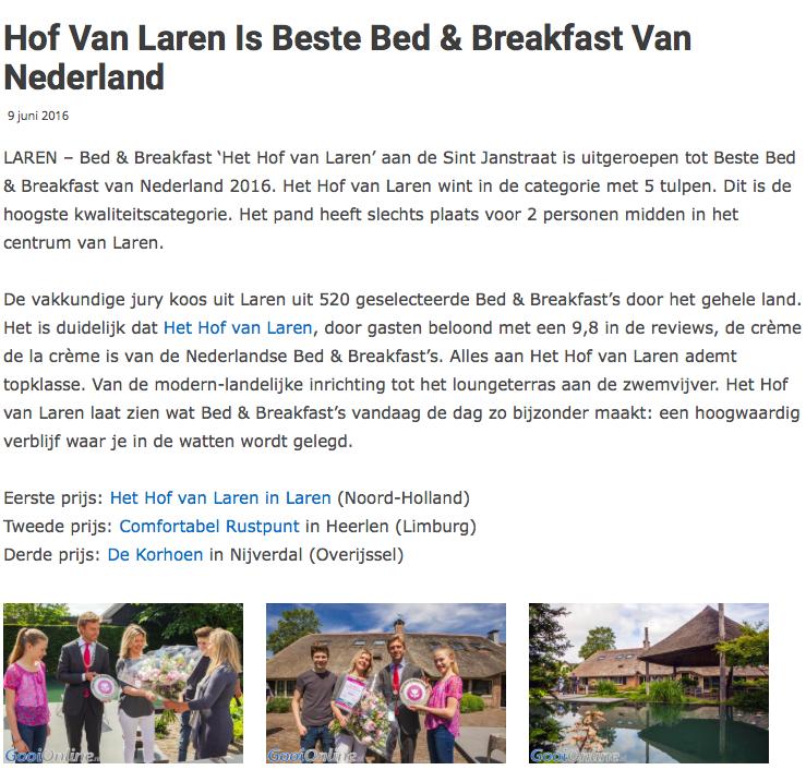 Bekendmaking Beste B&B Nederland Gooi.png