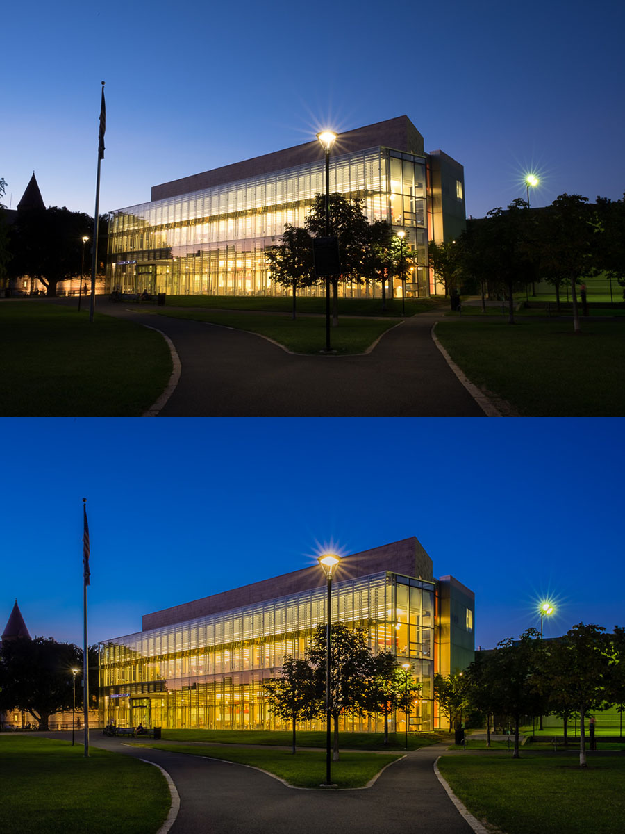 Cambridge Public Library Blue Hour