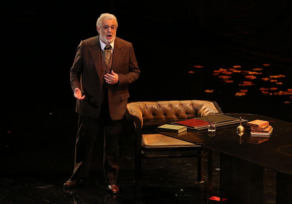 Plácido Domingo asGiorgio Germont, Alfredo's father in  La Traviata  (LA Opera, 2014)