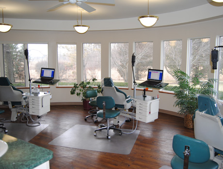 Main clinic area with panoramic views