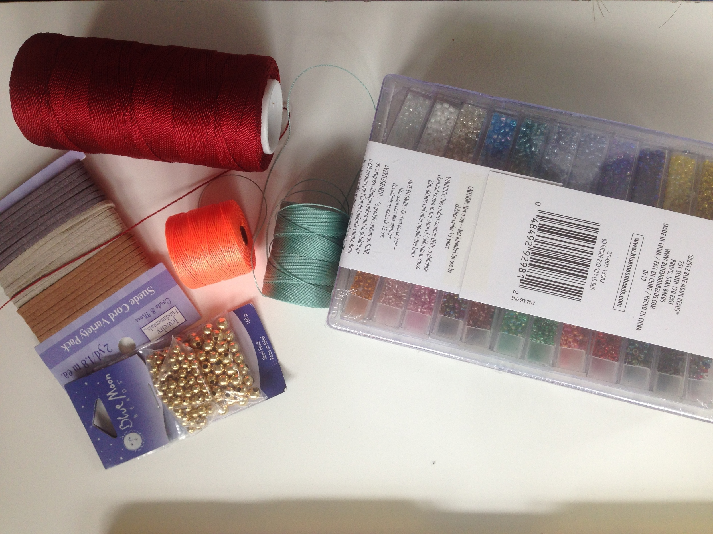 Materials I will start with to create the first samples