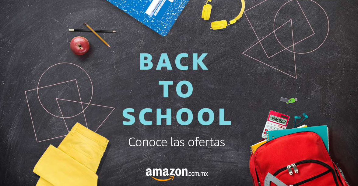 Back to School Facebook Ad for Amazon.mx