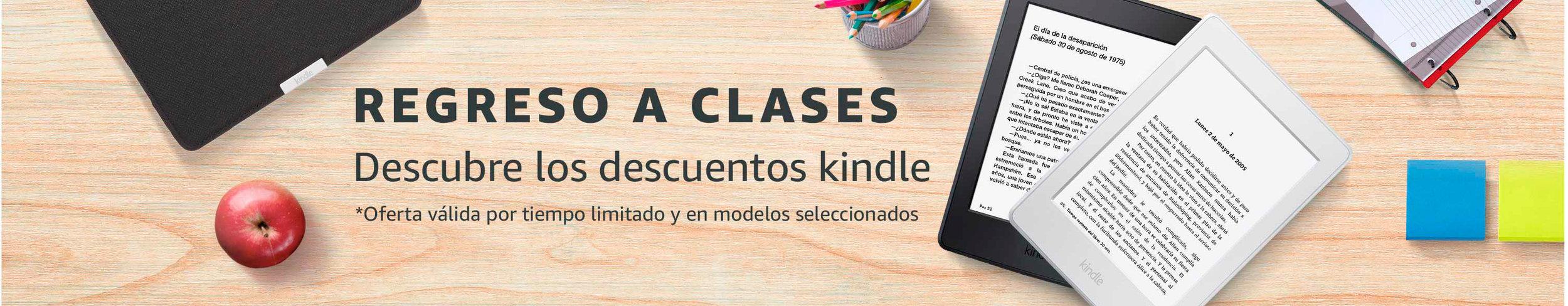 Back to School + Kindle desktop Hero for Amazon.mx
